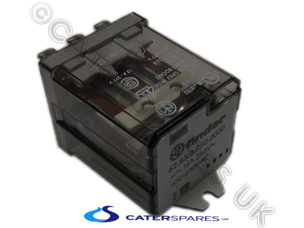 Finder Power Relay 3 Pole Contactor 230v Coil 3co Contacts 6283 Phase Wiring 628382300000