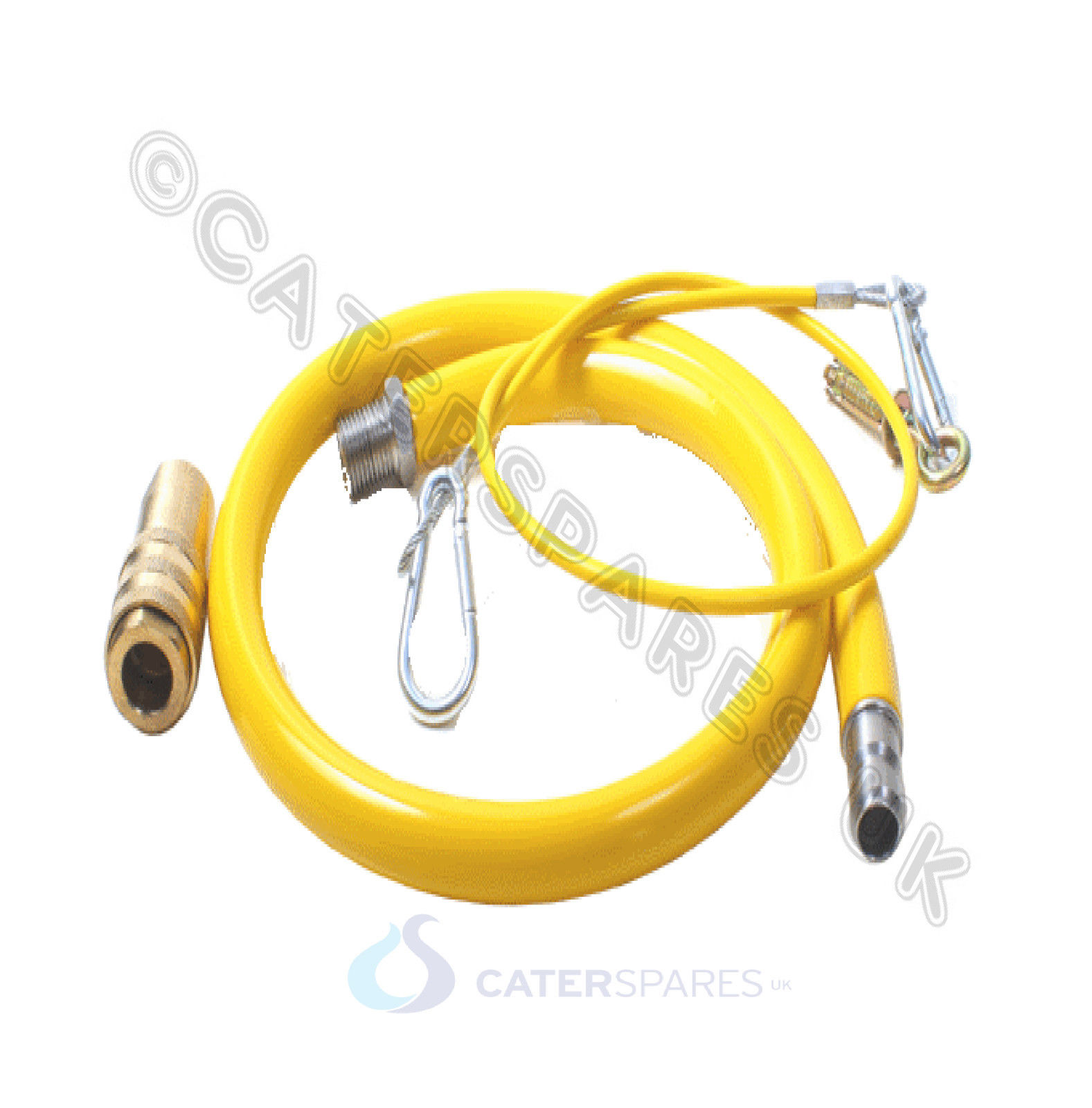 CATERFLEX CATERING YELLOW GAS HOSE PIPE 1/2 1.5 METER 1500MM 24 HR ...