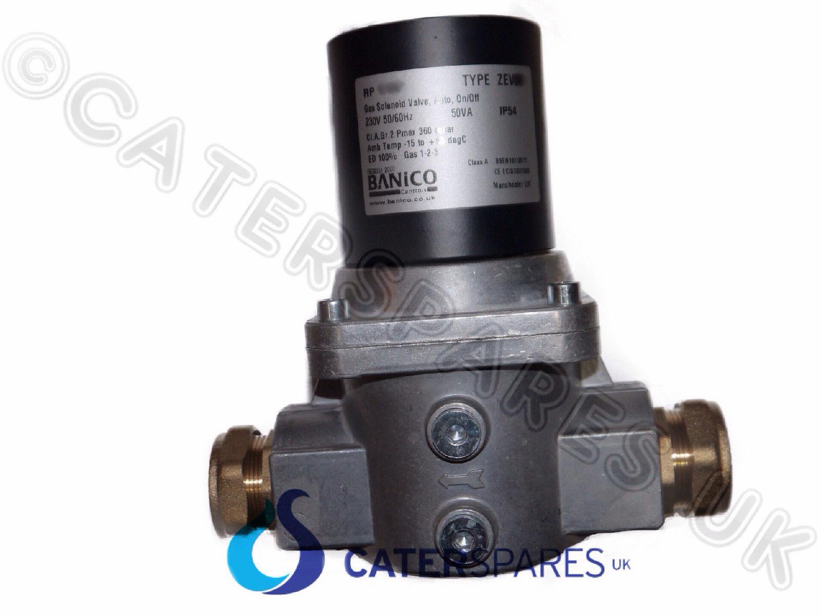 GAS SOLENOID VALVE 35mm COPPER PIPE 4 GAS INTERLOCK VENTILATION ...