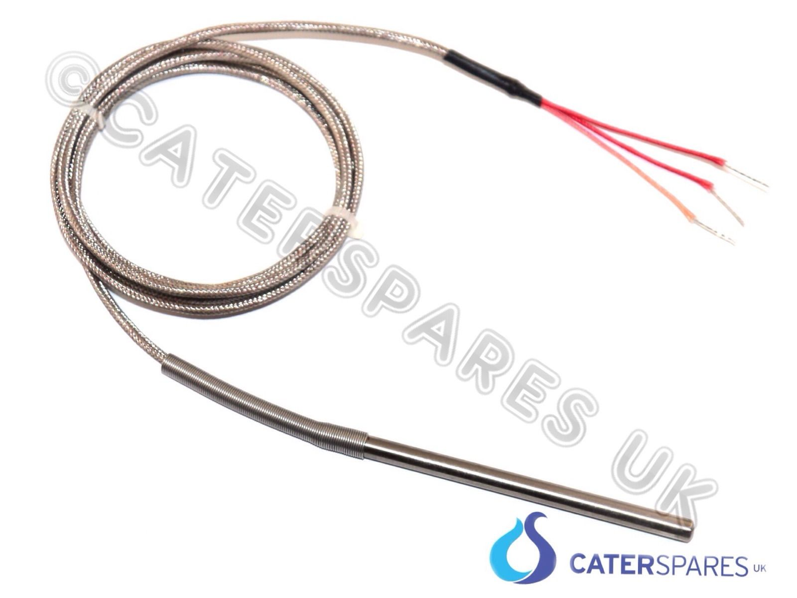 PT100 3 WIRE THERMOCOUPLE HIGH TEMPERATURE PROBE 1500MM LONG PIZZA  #0F8BBC