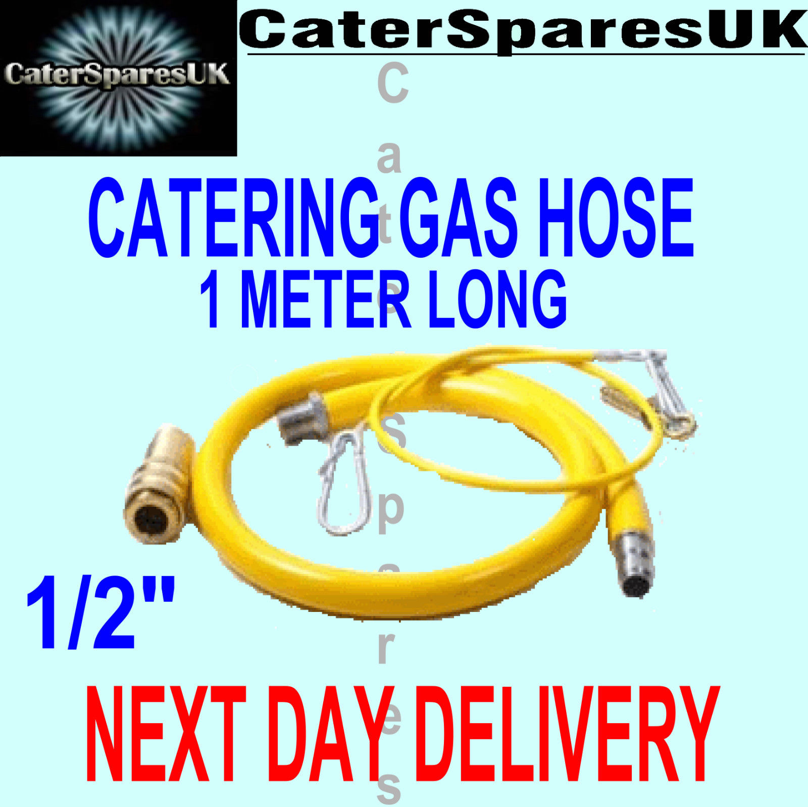 CATERFLEX COMMERCIAL CATERING EQUIPMENT YELLOW GAS HOSE FLEX 12 ...