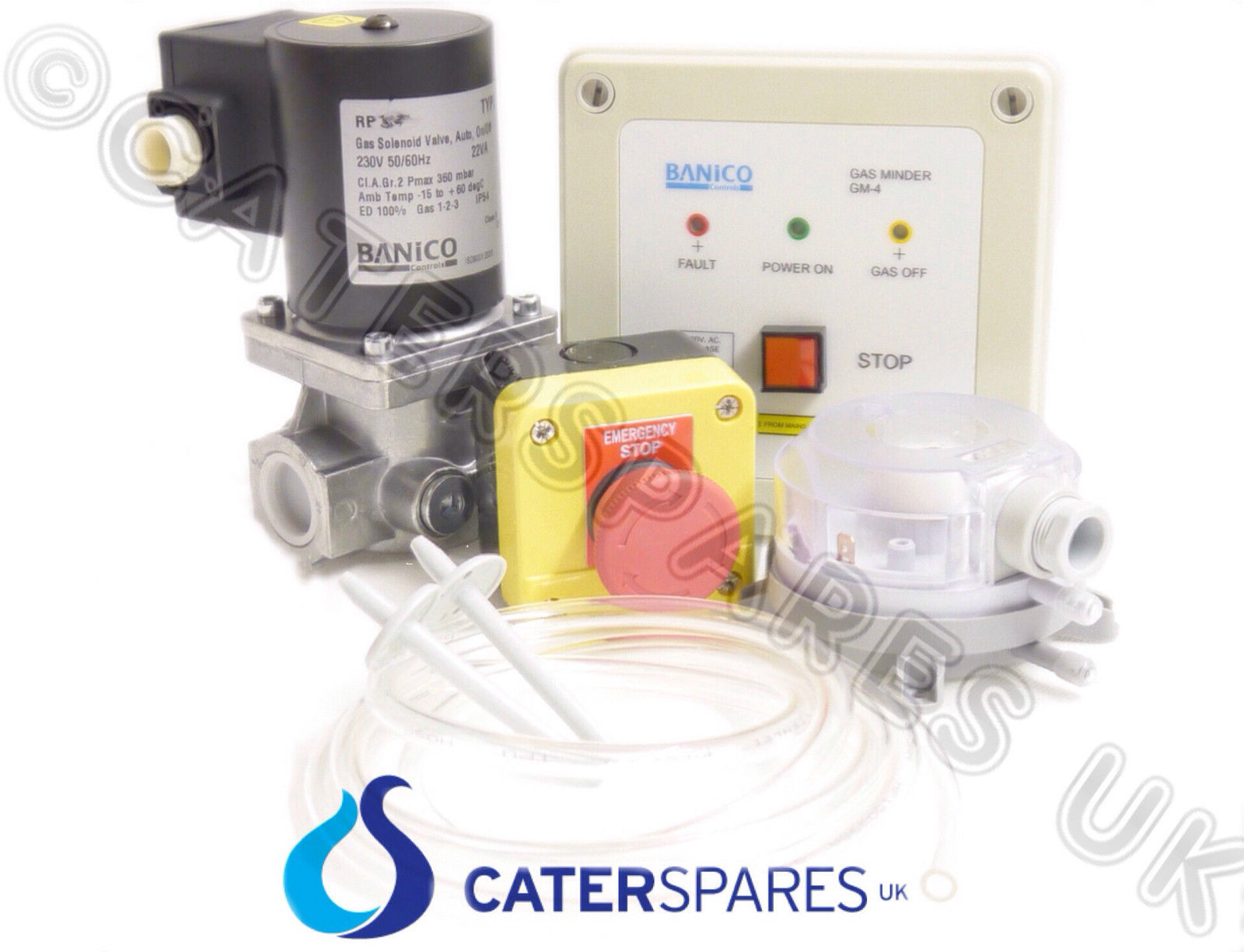 COMMERCIAL KITCHEN GAS INTERLOCK SYSTEM KIT WITH 1/2\
